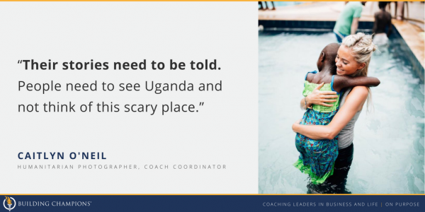 Building Champions Coach Coordinator Caitlyn O'Neil says she wants to make the stories of people around the world known through humanitarian photography.